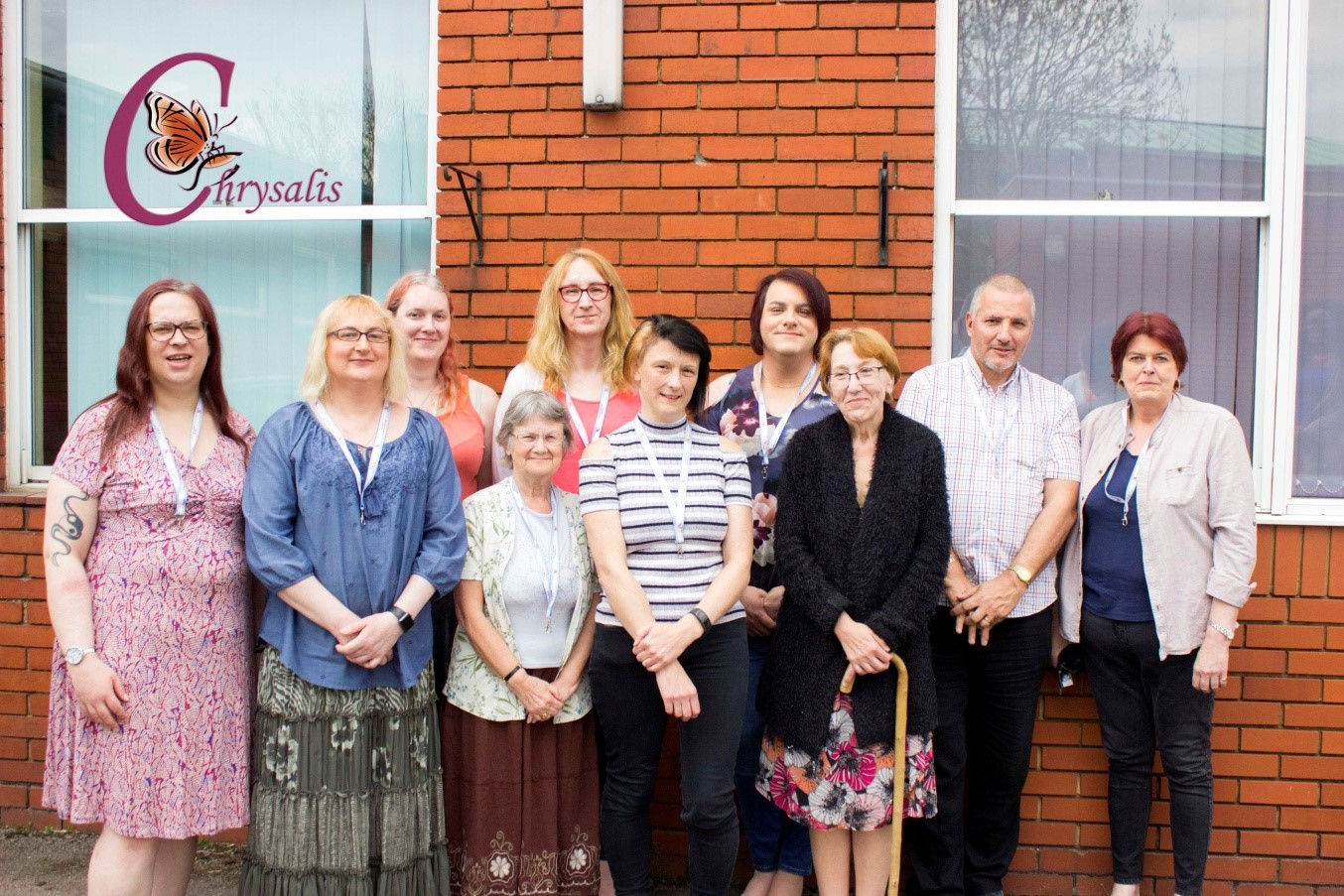 Chrysalis' new management board, from left to right Lennie, Steph, Deanna, Anne, Cassie, Andi, Sammy, Grecia, Jon, Mary