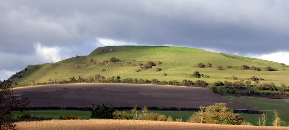 Cley Hill viewed from roa