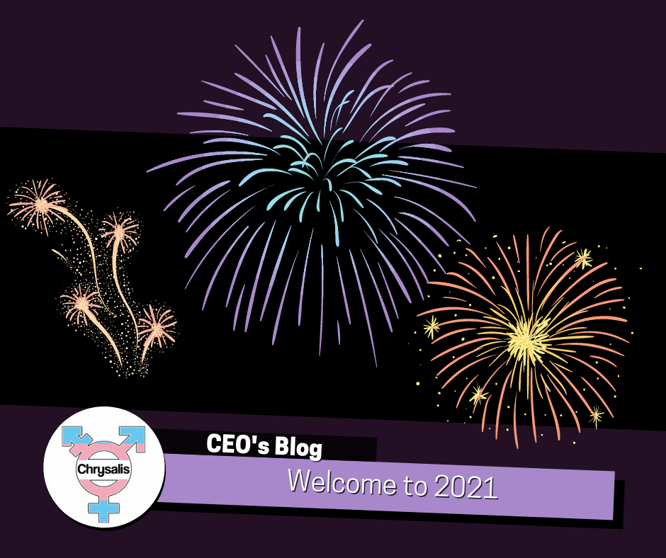 Chrysalis CEO blog. Welcome to 2021. Image of firework display