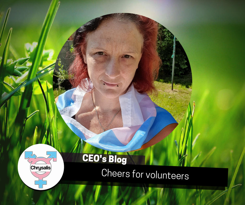 CEO's blog Cheers for volunteers. Photo of Andi with grassy background